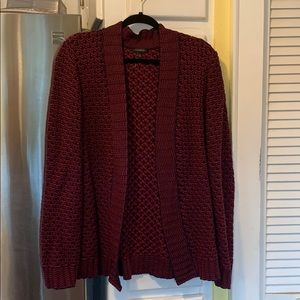Talbots open front sweater